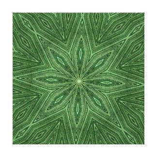Green Bamboo Modern Geometric Diamond Pattern Stretched Canvas Print