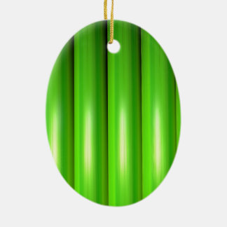Green bamboo set ceramic oval decoration