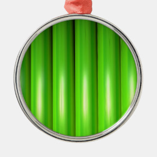 Green bamboo set Silver-Colored round decoration