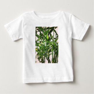 Green bamboo shoots and leaves baby T-Shirt