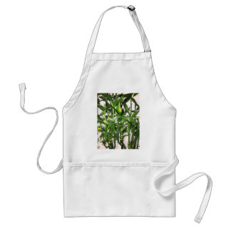 Green bamboo shoots and leaves standard apron