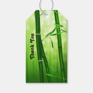 Green Bamboo Thank You Gift Tags