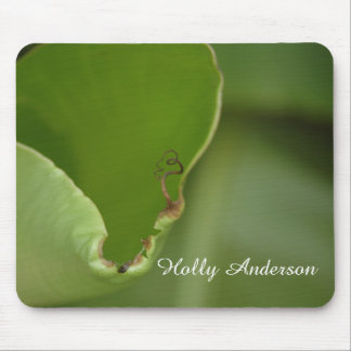 Green Banana Leaf Photo 16 in Light, Personalized Mouse Pad