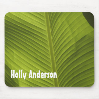 Green Banana Leaf Photo 9 in Light, Personalized Mouse Pad