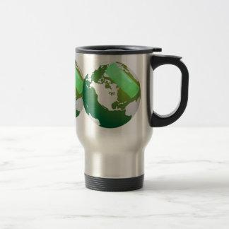 Green Bandaided Earth Travel Stainless Steel Travel Mug