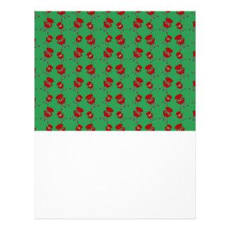 green barbeque pattern custom flyer