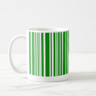 Green Barcode Coffee Mug