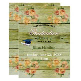 Green Barn Rustic Wood Pastel Flowers Watercolor Card