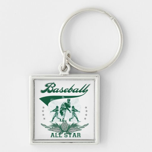 Green Baseball All Star T-shirts and Gifts Key Chains