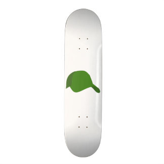 Green baseball cap 20 cm skateboard deck