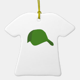 Green baseball cap ornaments