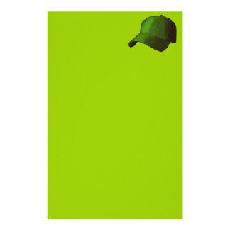 GREEN BASEBALL CAP GRAPHICS STATIONERY