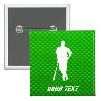 Green Baseball Pin