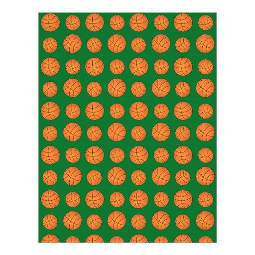 Green basketball pattern personalized flyer