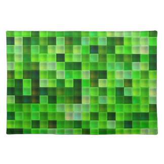 Green Bathroom Tile Squares pattern Placemat