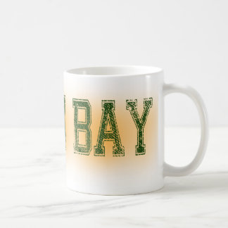 Green Bay Green and Gold Grunge Coffee Mug