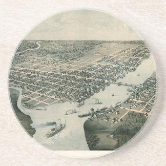 Green Bay Wisconsin 1867 Coaster