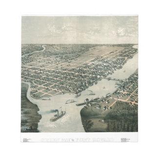 Green Bay Wisconsin 1867 Notepad