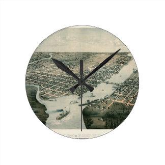 Green Bay Wisconsin 1867 Round Clock