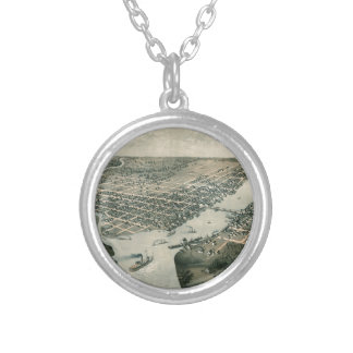 Green Bay Wisconsin 1867 Silver Plated Necklace