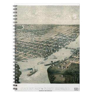 Green Bay Wisconsin 1867 Spiral Notebook