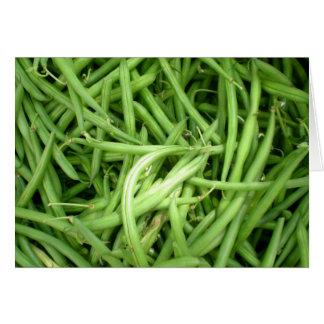 Green Beans Blank Card