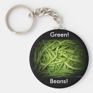 Green Beans in Spotlight Key Ring