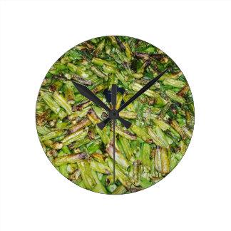 Green  Beans... Round Clock