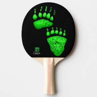 Green Bear Paws - Ping Pong Paddle