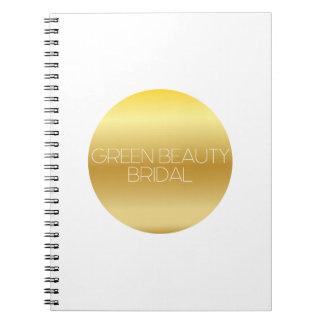 Green Beauty Bridal Logo Notebook
