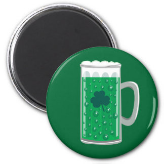 Green Beer 6 Cm Round Magnet