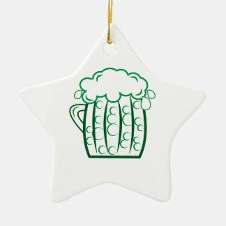 Green Beer Ceramic Star Decoration