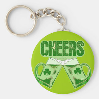 Green Beer Cheers Keychains