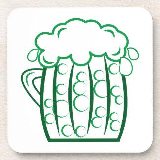 Green Beer Coaster