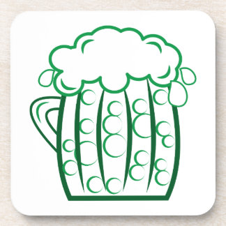 Green Beer Coaster
