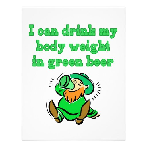Green Beer Drunk Personalized Invite