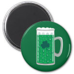 Green Beer Fridge Magnet