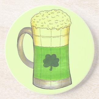 Green Beer Irish Shamrock St. Patrick's Day Coaster
