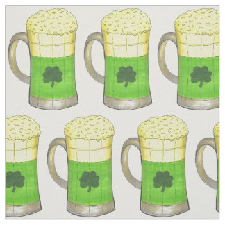 Green Beer Mug Shamrock St. Patrick's Day Fabric