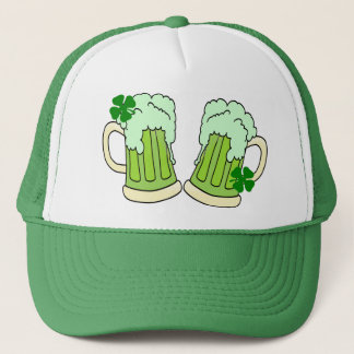 Green Beer Mug Toast Alpha Trucker Hat