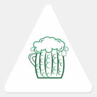 Green Beer Triangle Sticker