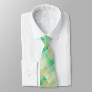 Green, beige, and cream edgy stripes tie