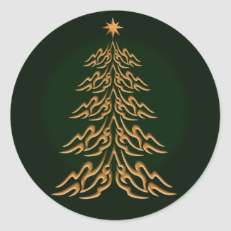 Green Bell Christmas Tree Stickers