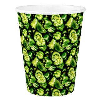 Green Bell Peppers Paper Cup