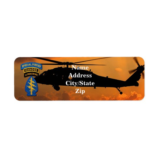 green berets special forces veterans vets sof sf return address label