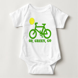 Green Bicycle Baby Bodysuit