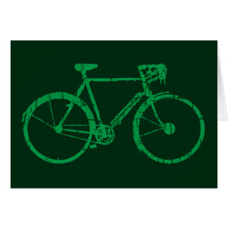 green bicycle card