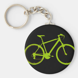 green bike - cycling key ring