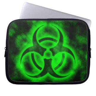 Green Biohazard Laptop Sleeve