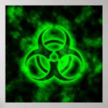 Green Biohazard Print
